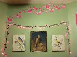 wall as headboard purple lights family dollar bird paintings