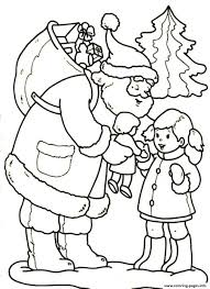 santa gives a beautiful doll christmas 3557 coloring pages