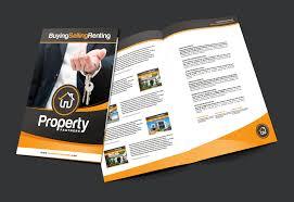a3 real estate brochure template brandpacks