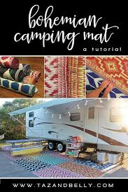 bohemian camping mat tutorial taz and belly