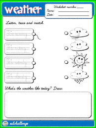 the weather worksheet 1 b u0026w english step by step 1st graders