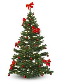 decorated christmas tree cut out plants vishopper