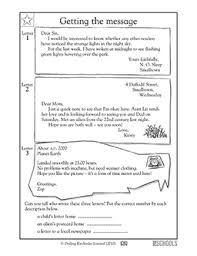 1st grade 2nd grade reading writing worksheets writing a letter