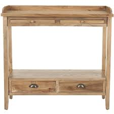 Safavieh Console Table Shop Safavieh Peter Oak Elm Console Table At Lowes Com