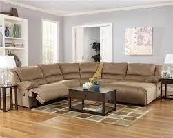 Sectional Sofa With Chaise And Recliner Signature Design By Ashley Hogan Mocha 5 Piece Motion Sectional