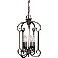 Home Depot Interior Lighting Talista William 4 Light Antique Bronze Chandelier Cli Frt7000 04