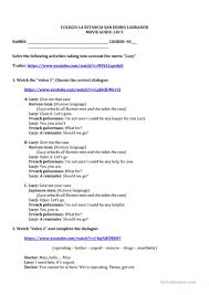 movie lucy worksheets worksheet free esl printable worksheets