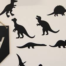 dinosaur wall stickers by parkins interiors notonthehighstreet com dinosaur wall stickers