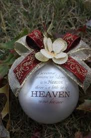 christmas memorial ornament because someone we love is in heaven