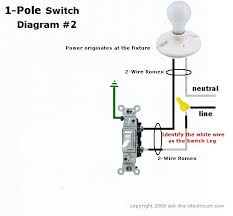 wiring diagram 2 pole switch wiring diagram how to wire a single