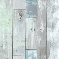Distressed Wood Wall Panels by Brewster 2532 20416 Dean Distressed Wood Panel Wallpaper Blue