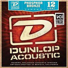Light Guitar Strings by Dunlop Dap1254 Phosphor Bronze Acoustic Guitar Strings Light