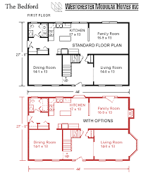2 story house plans with 4 bedrooms bedford by westchester modular homes two story floorplan