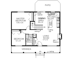 Floor Plan For Small House by Country Style House Plan 2 Beds 1 00 Baths 900 Sq Ft Plan 18 1027