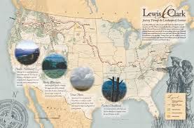 clark map lewis and clark map united states forest service