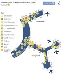 san francisco airport sfo terminal 1 map map of terminal 1 at