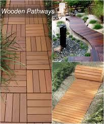 Modern Garden Path Ideas Wonderful Wooden Garden Pathway Idea With Chic Wood Pattern For