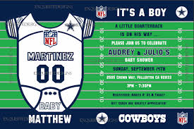 dallas cowboys baby shower invitations iidaemilia com