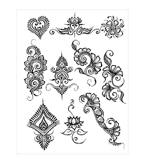 akyio henna stencils pack earth henna designs joann