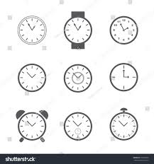 set simple clock icons vector illustration stock vector 310706330