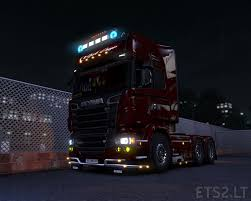 volvo vnl 780 blue truck farming simulator 2017 2015 15 17 xenon ets 2 mods part 5