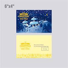 light merry christmas greeting card template