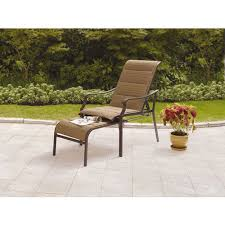 reclining patio chair with ottoman mainstays padded sling chair walmart com