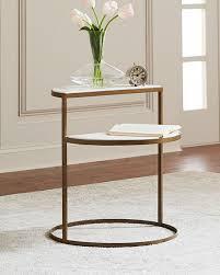 kim marble shelf night stand