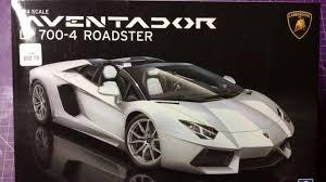 Lamborghini Aventador Lp700 4 Roadster - aoshima 1 24 lamborghini aventador lp700 4 roadster youtube