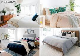 updating basic bedroom furniture with new bedding emily henderson