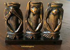 ornaments figurines wooden monkey ape collectables ebay