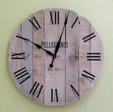 personalized wedding clocks exciting reclaimed wood clock large pallet clock reclaimed wood