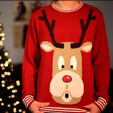rudolph sweater snowglobe rudolph nose knitted sweater morph costumes us