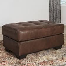 Brown Ottoman Leather Ottomans You Ll Wayfair