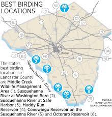 octoraro lancaster county has 6 of top 100 birdwatching spots in