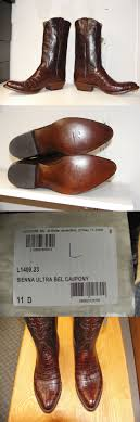 lucchese s boots size 11 boots 159002 lucchese classics s caiman brown
