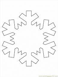 we used a printable snowflake we enlarged a bit in word before
