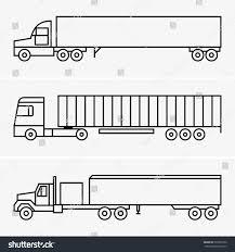 semi trailer truck semitrailer truck stock vector 532097332 shutterstock