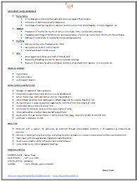 Simple Sample Resume Format by Simple Resume Format Examples