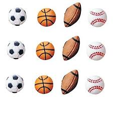 Sports Decorations Oasis Supply Sugar Decorations Sports Balls 12 Count Amazon Com