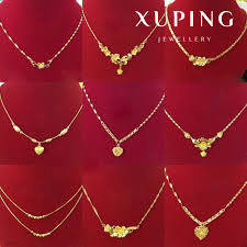 chain necklace design images 2017 gold plated imitation jewellery xuping 24k gold jewelry hot jpg