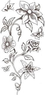flowers butterfly design
