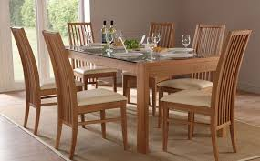 Solid Oak Dining Table And 6 Chairs Dining Table And Chair Set Cool Design Exquisite Decoration Chair
