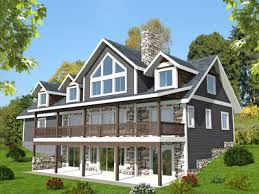 sloping lot house plans 3 bed sloping lot house plan with grand rear deck 35514gh