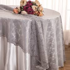 silver lace table overlay silver lace table overlays linens toppers round