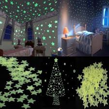 glow in the dark star wall stickers sticker collections glowing ceiling stickers 100 x home ceiling glow in the dark