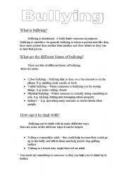 bullying worksheets for kindergarten free worksheets library