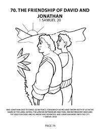 david and jonathan coloring page free download