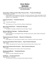 Ballet Resume Sample by Sample Resume Template For Performance Arts With Stage And Film
