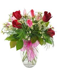 Red Rose Bouquet Pink And Red Rose Bouquet With A Decorated Vase U2013 Roses For Autism